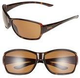 Smith Optics Women's 'Pace' 65Mm Chromapop(TM) Polarized Sunglasses - Black/ Polarized Grey Green