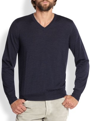Brunello Cucinelli Wool/Cashmere V-Neck Sweater