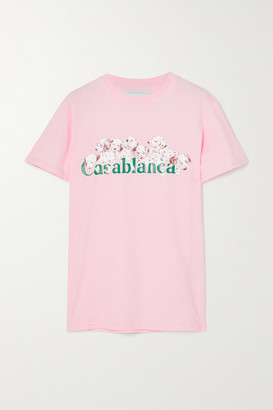 Casablanca Printed Cotton-jersey T-shirt - Pink