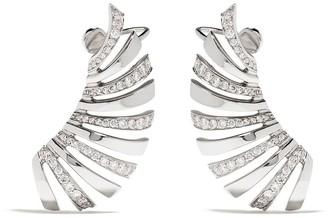 Brumani 18kt white gold Buriti diamond ear cuffs