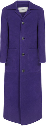 Ami Alexandre Mattiussi Virgin Wool Long Coat