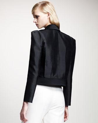 Lanvin Tricolor Strong-Shoulder Jacket