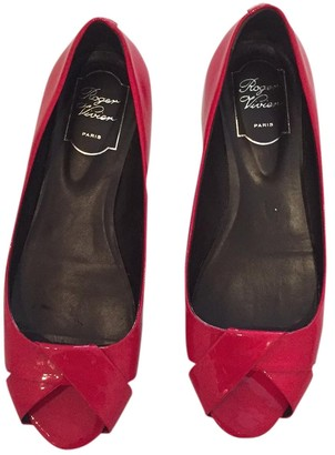 Roger Vivier Red Patent leather Ballet flats