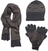 Muk Luks 3-pc. Jacquard Beanie, Scarf and Texting Gloves Set