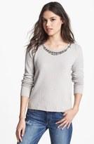 Hinge® Jewel Embellished Sweater