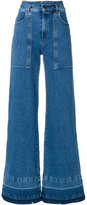 Semi-Couture Semicouture faded wide leg denim jeans