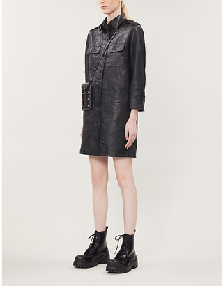 Zadig & Voltaire Rexy leather mini dress