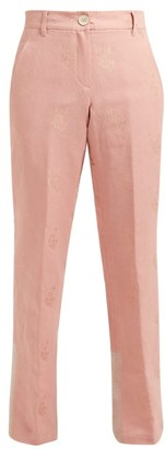 Ann Demeulemeester Alexa Cotton-blend Brocade Trousers - Pink