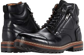 Steve Madden Sandar Lace-Up Boot (Black) Men's Shoes
