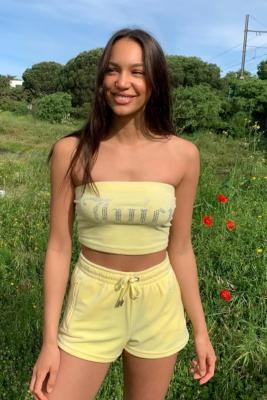 Juicy Couture UO Exclusive Lemon Tube Top - Yellow XS at Urban Outfitters