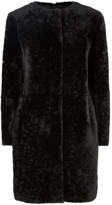 Max Mara Shearling and Leather Coat