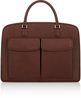 Barneys New York Men's Double-Handle Briefcase-BROWN