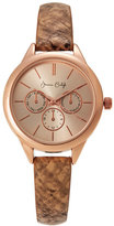 jessica carlyle JL11312R209 Rose Gold-Tone Watch
