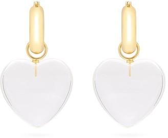 Lizzie Fortunato Cloud Nine Heart Charm Gold-plated Earrings - Womens - Clear