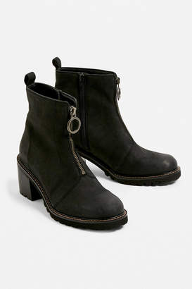 Urban Outfitters Darla Zip-Front Leather Boot