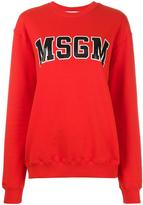 MSGM logo print sweatshirt - women - Cotton - S
