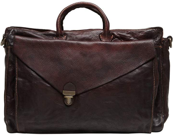 Campomaggi Vintage Effect Leather Briefcase