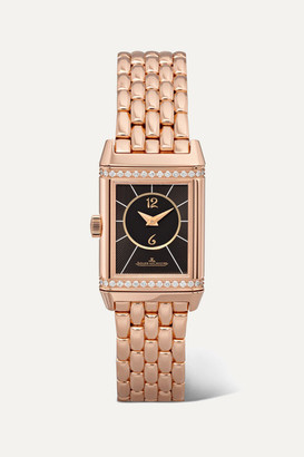 Jaeger-LeCoultre Jaeger Lecoultre Reverso Classic Duetto Small 21mm Rose Gold And Diamond Watch