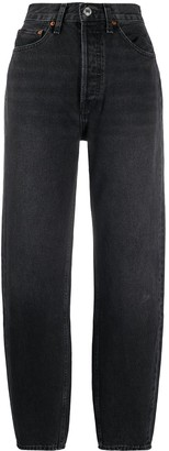 RE/DONE High Waisted Slim-Fit Trousers