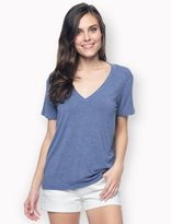 Splendid Heathered Short Sleeve V-Neck
