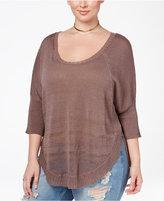 Rachel Roy Curvy Trendy Plus Size Dolman-Sleeve Sweater