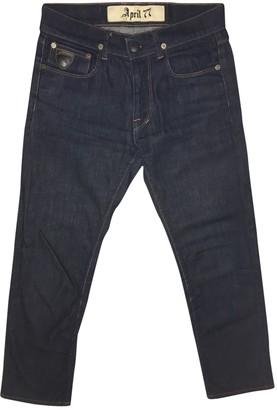 April 77 Blue Cotton Jeans for Women