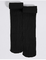 Marks and Spencer 2 Pairs of Rib Opaque Tights (6-14 Years)