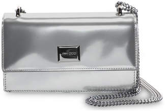 Jimmy Choo LENI Silver Liquid Mirror Leather Mini Bag