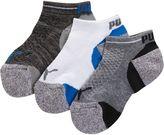 Puma Mesh Top Boys' Low Cut Socks (3 Pack)