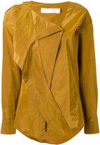 Victoria Beckham wrap tie shirt - women - Silk/Cotton - 14