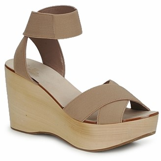 Belle by Sigerson Morrison ELASTIC women's Sandals in Brown