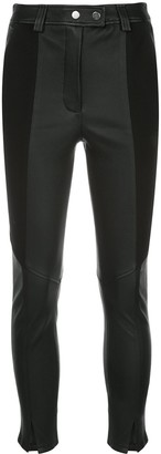 A.L.C. Panelled Leather Trousers
