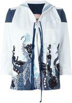 Antonio Marras embroidered jacket - women - Cotton/Polyester/Spandex/Elastane/glass - 42