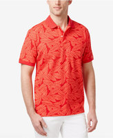 Club Room Men's Leaf Print UPF 50+ Performance Polo, Only at Macy's