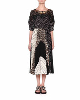 Antonio Marras Puff-Sleeve Patchwork Jersey Dress