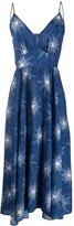 Paco Rabanne speckled star-print midi dress
