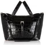 Meli-Melo Thela Medium Tote Bag Black Croc Effect