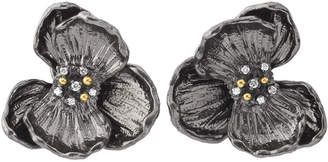 Michael Aram Orchid Large Stud Earrings w/ Diamonds