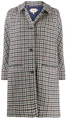 Bellerose houndstooth single-breasted coat