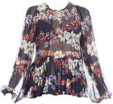 MSGM Flora Print Silk Blouse