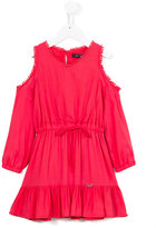 Miss Blumarine cold shoulder dress - kids - Viscose/Cotton - 12 yrs