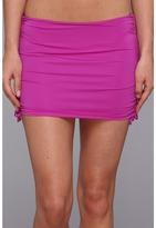 Badgley Mischka Solids Shirred Skirt