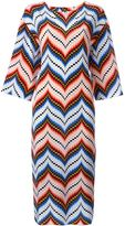 Kenzo chevron midi dress
