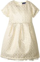 Andy & Evan Jacquard Holiday Dress (Toddler/Kid) - Gold - 2T