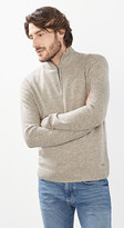 Esprit OUTLET zip-neck jumper in a warm wool blend