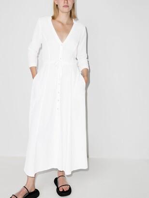 HONORINE White Georgia Cotton Midi Dress