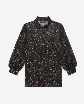 The Kooples Flowing black shirt with star print