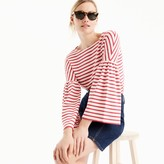 J.Crew Striped bell-sleeve T-shirt