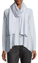 Eileen Fisher Airy Cashmere-Blend Scarf, India Sky