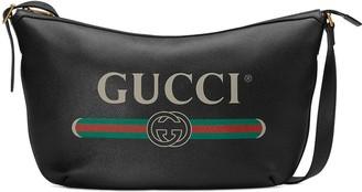 Gucci Logo Printed Shoulder Bag